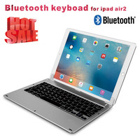 2016 new Aluminum Ultrathin Wireless Bluetooth Keyboard for iPad Pro With LED Backlit Key