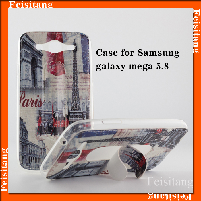 Supply TPU transparent plastic mobile phone smart phone case for samsung Galaxy mega 5.8