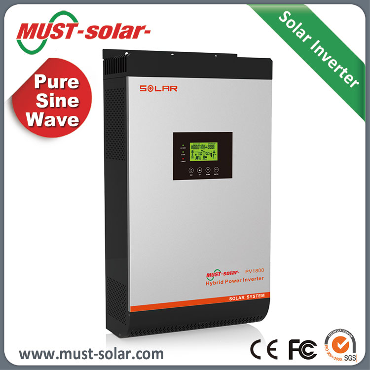 PV1800 Hybrid inverter MPPT 60A solar inverter with max 3pcs in parallel