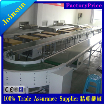stainless steel 180 degree curve belt conveyor
