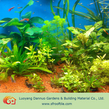 fish tank with plants aquaponic substrate red mineral balls