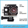 HD 4K 30fps Sport Camera 170 Degree Wide Angle Sport DV Waterproof Wifi Action Camera