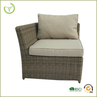 Cheap wicker rattan chairs-Rattan single side sofa