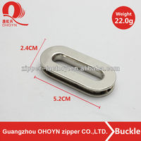 Ellipse metal oval buckle lead free buckle for leather bag