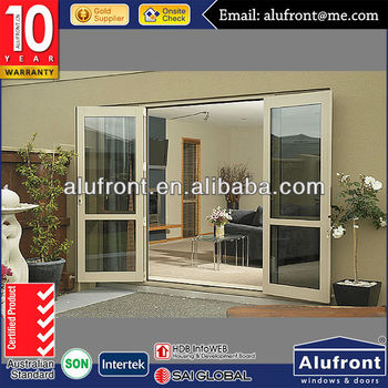 Double tempered glass main door design aluminum door