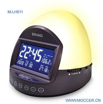 AM/FM CLOCK RADIO WITH HANG TOUCH LAMP