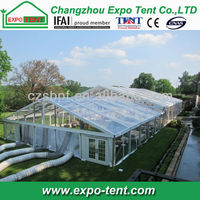 large clear tent with ac