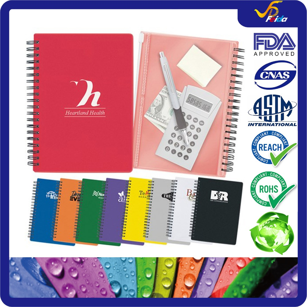 Paper Hardcover Pocket Buddy Notebook Spiral Notebook with PVC Bag