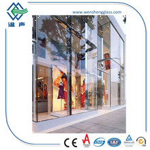 Hot sale Ultra clear tempered laminated glass shop front glass