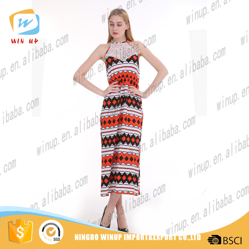 Latest collection high quality ladies dress long lace western maxi dress