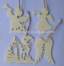 2017 new hot product cheap handmade craft felt white artifical tree ornament China wholesale Christmas hanging angel decorations