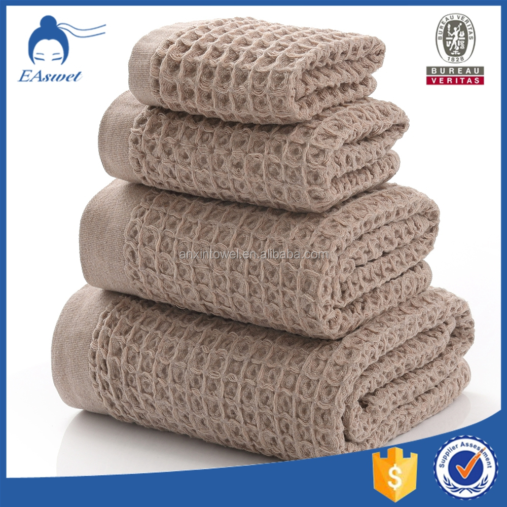 2016 new design cotton waffle weave bath towel with great price