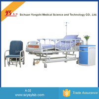 Cheap Movable Steel Tri-crank Folding Hospital ICU care Bed for patient