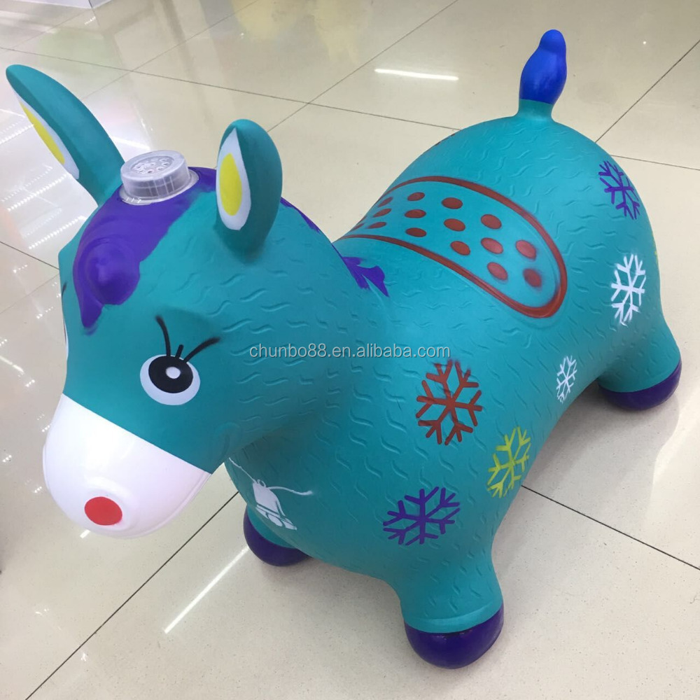 ride on toys animal hopper with cover jumping PVC animals with music