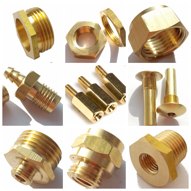 Top quality brass small electronic component turned