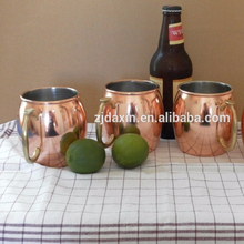 High quality copper moscow mule mug with handle