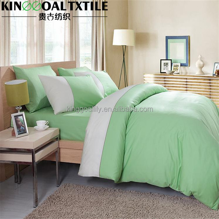 Cal King size 300TC 100% Bamboo green and white Duvet cover