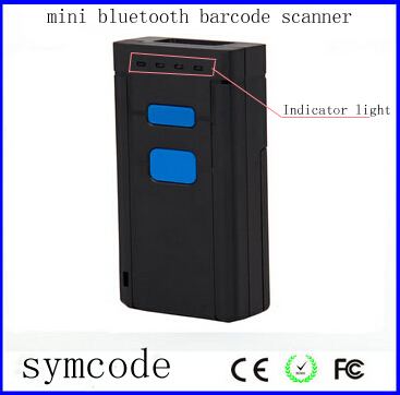 1D CCD Mini Portable Wireless Bluetooth Barcode Scanner for iOS, Android and windows-base mobile and tablet devices