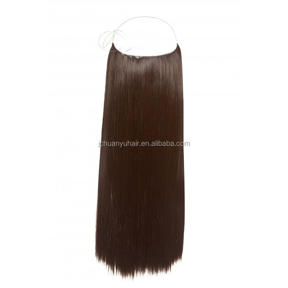 Human hair wholesale price halo hair extensions