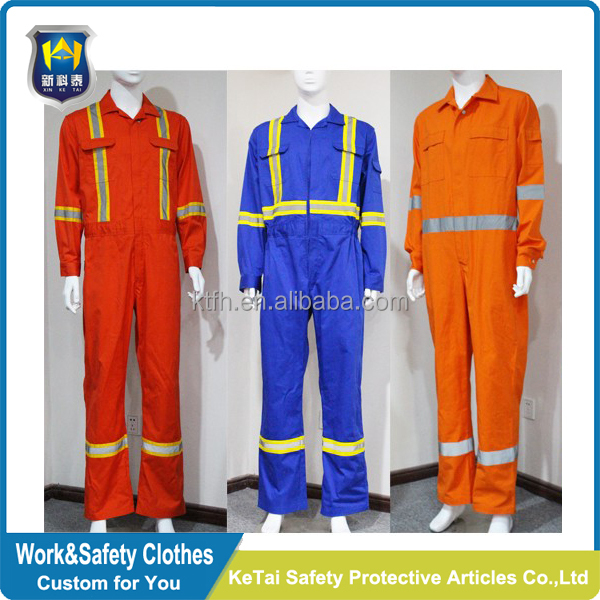Durable and Washable FR Cotton Fire Retardant Coverall/Clothing