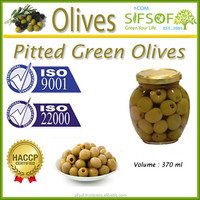 High Quality Pitted Green Olives, Black and Green Pitted Olives,Table Olives 370 ml Glass Jar