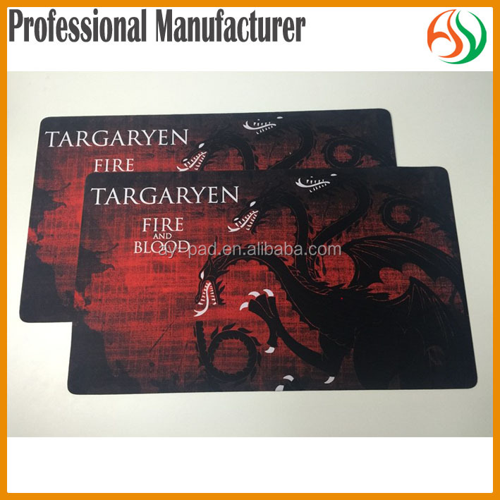 AY Sublimation Printing TARGARYEN Custom Game Mats Vanguard Game Card Rubber Play Mats, Trade Assurance Card Playmat
