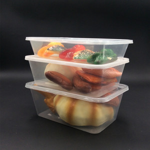 500ML 16 OZ disposable clear plastic fast food container with lid