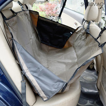 stock lot grey polyester pet booster seat to protect the car