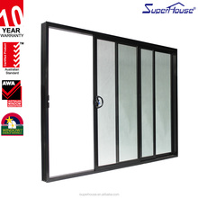 AS2047 Standard New design heat insulation Aluminium glass sliding interior wardrobe doors