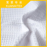 100% cotton bleach white waffle fabric for hotel by china suppliers