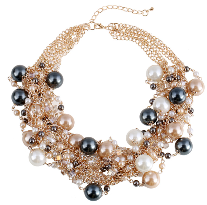 fashion 3 strand pearl necklace