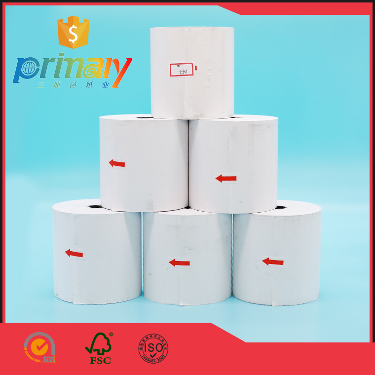 2017 high quality 80mm* 80mm cash register thermal rolls wrapped in your own brand name package