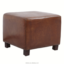 customization available fashion faux leather or genuine leather storage ottoman