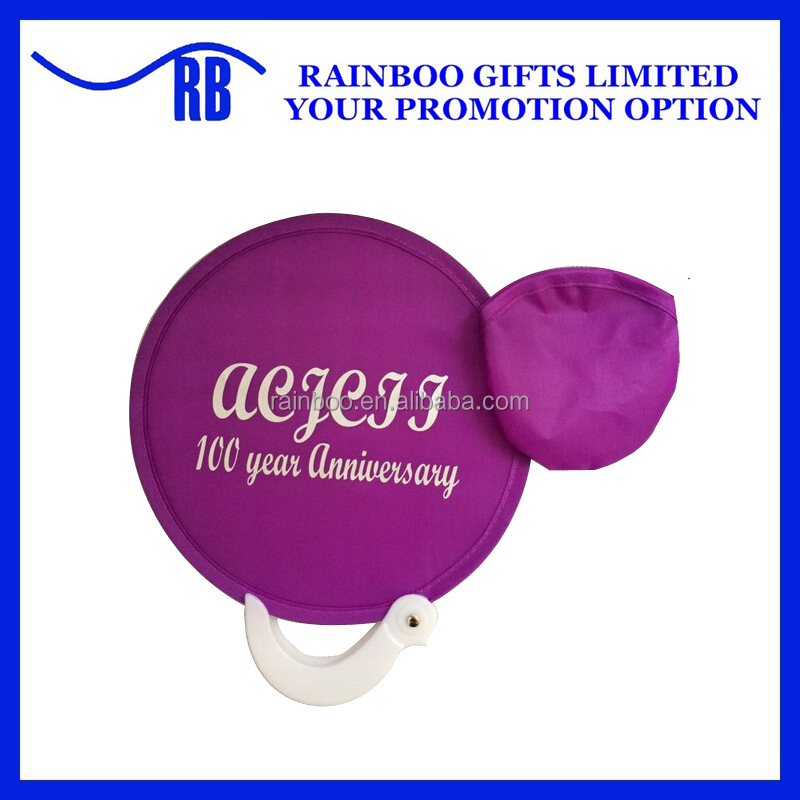Custom logo printing cheap promotional dog nylon foldable fabric flying disc with handle