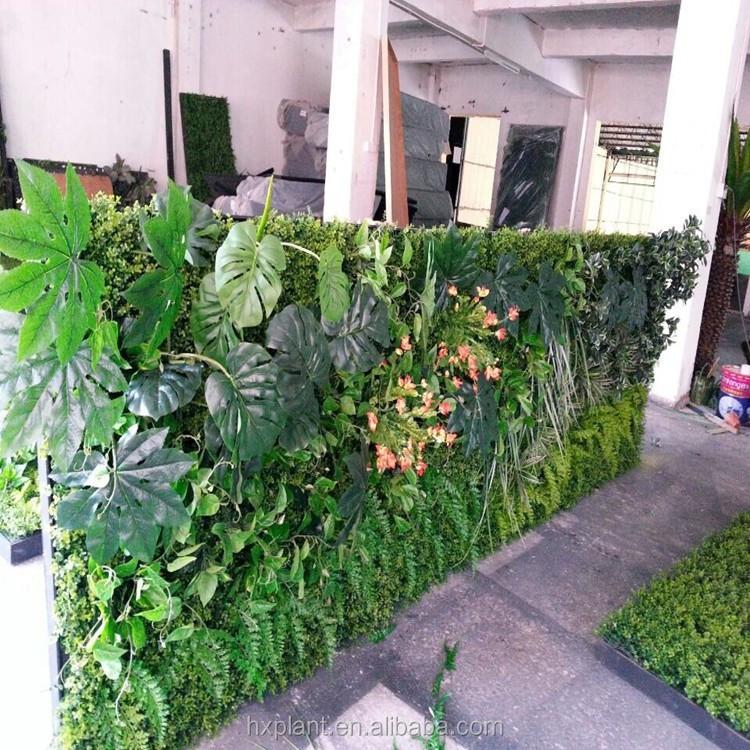 Pas cher art mur v g tal jardin vert artificielle mur d cembre mur papiers - Mur vegetal exterieur pas cher ...