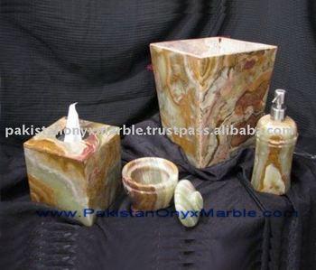 Multi brown onyx bathroom accessories buy onyx bathroom for Brown marble bathroom accessories