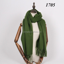 100% lambswool thick wool scarf for winter