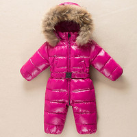 Baby Winter Romper Duck Down Infant Snowsuit Kid Jumpsuit Children Warm Overalls for Girls and Boys Clothes