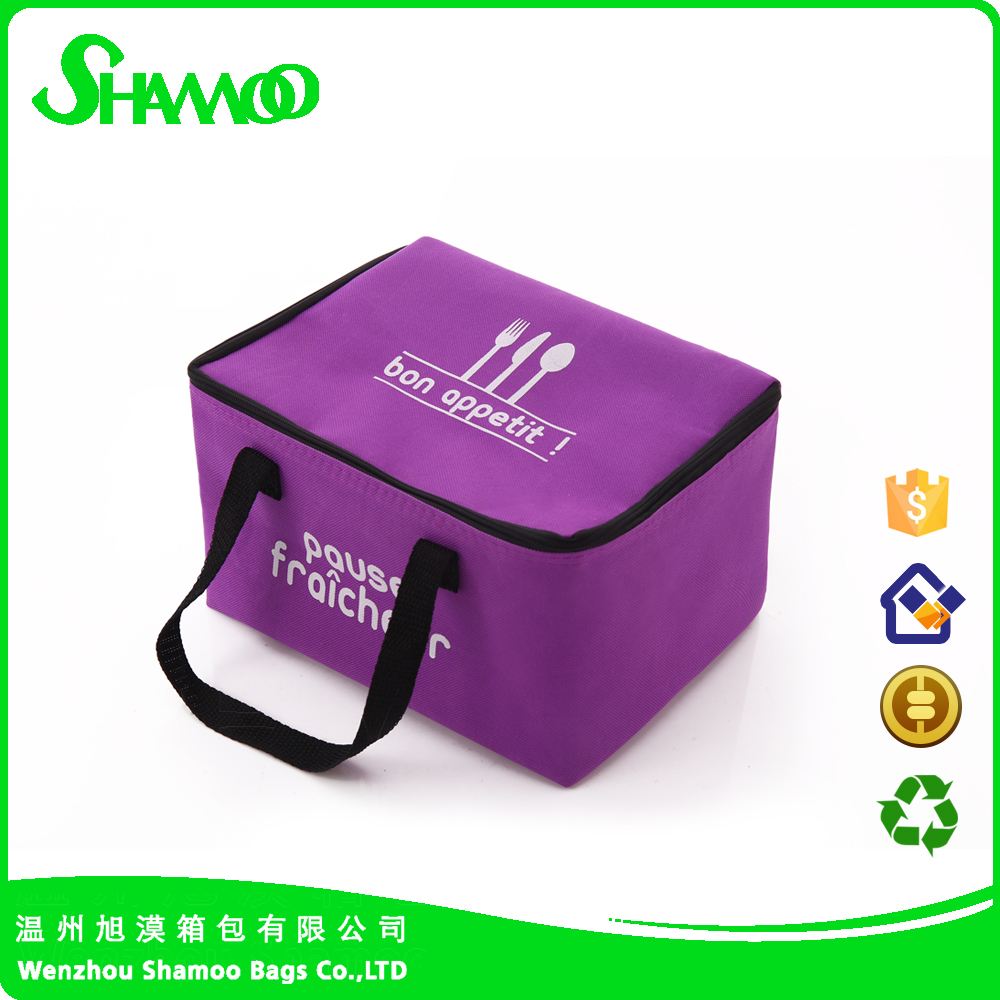Hot sale non-woven thermal food delivery cooler bag for lunch