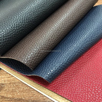 Lychee embossed PVC bonded leather with different color for sofa and chair making
