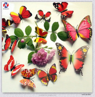 Magnetic Butterfly Design Eco-Friendly Waterproof Kids Room Art Decor 3d Wall Stickers