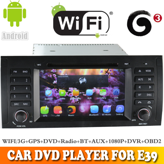 Aosino car dvd for bmw e39 with Quad Core android 5.1