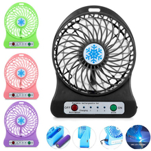 Universal Portable Rechargeable LED Light Mini USB Fan Air Cooler Desk Battery Fan for PC Laptop Computer Ventilador