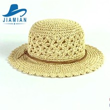 Good Quality Sell Well Summer Beach Paper Baby Crochet Hats Pattern Wholesale
