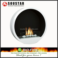 Real flame home heaters wall mounted bio ethanol fireplace