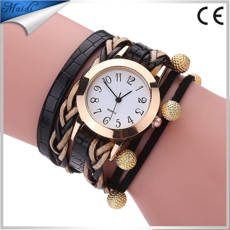 Alibaba Hot Wrap Around Dress Watch Hot Women Gril Wristwatch Leather Lady Casual Dress Geneva Watches WW089