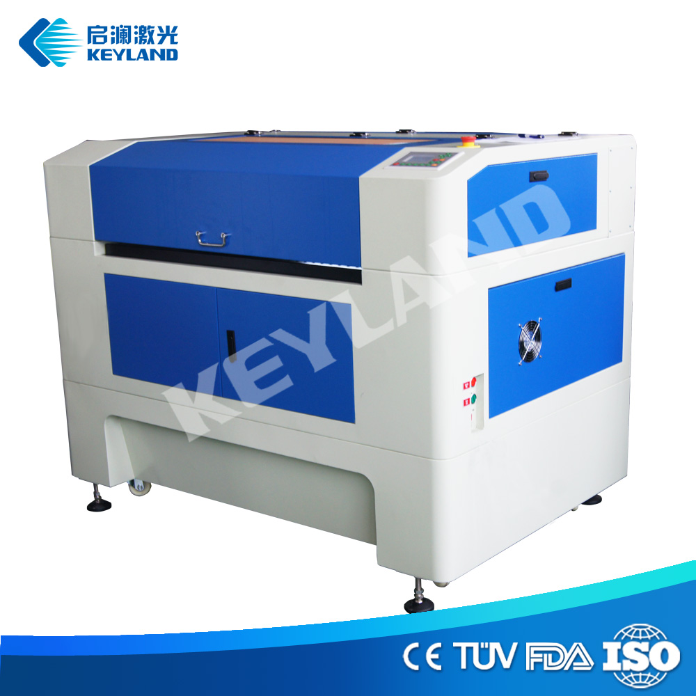 Cheap large size craft paper acrylic balsa wood jigsaw puzzle textile 60W desktop cnc laser cutter / cutting machine for sale