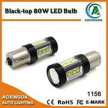 Black top 80W car led bulb ba15s 1156
