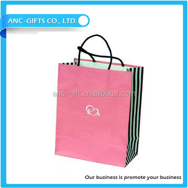 2016 luxury clothing shopping paper bag cotton handle