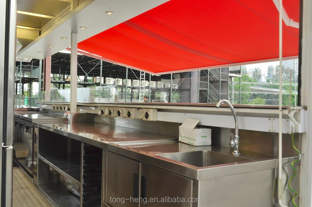 Custom container kitchen designs, fashionable stainless steel 20ft kitchen container